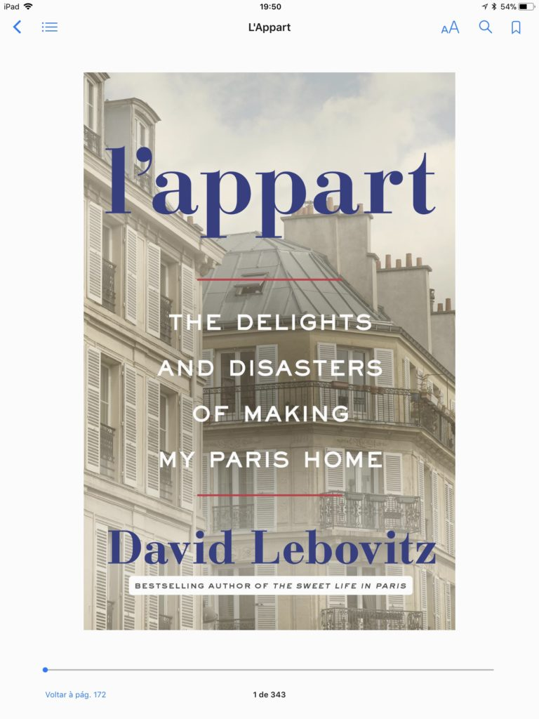 Livro do mês: L'appart por David Lebovitz